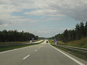 European route E 36 in Poland