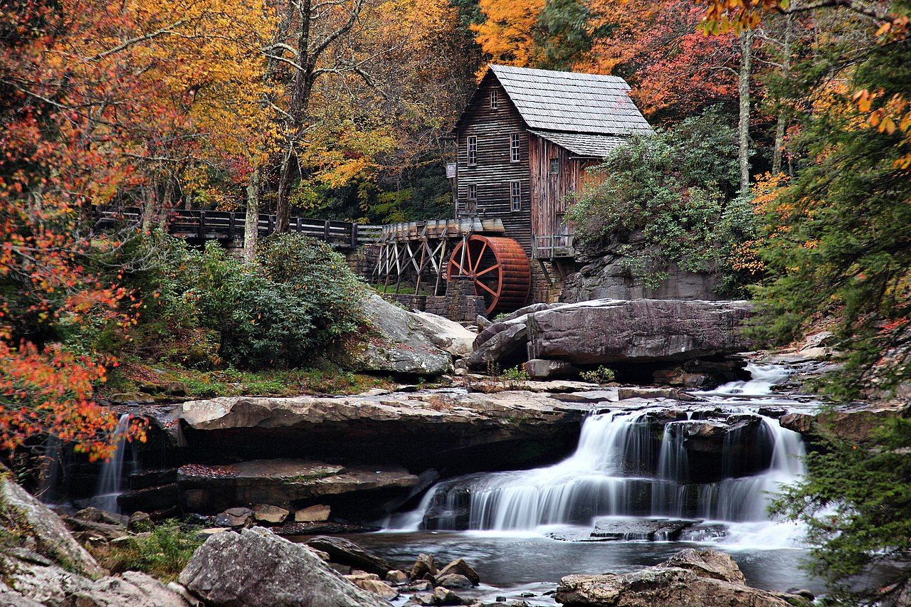 File Autumn Grist Mill West Virginia Waterfalls1 West