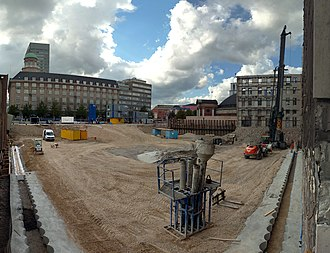 Axeltorv - The construction site of the Scala Project