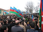 Azərbaycanlıların soyqırımını həyata keçirən ermənilər əlehinə mitinq.JPG