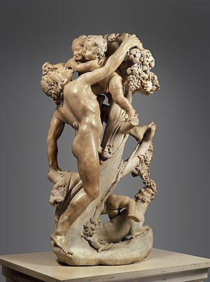1616 in art - Bernini's Bacchanal: A Faun Teased by Children