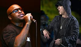 "Royce Da 5'9"" (links) en Eminem (rechts)"