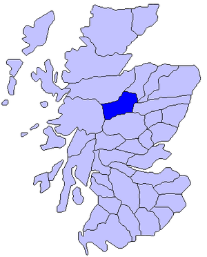 Badenoch - Map of Scotland showing the historic district of Badenoch