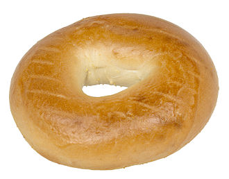 Bagel - A commercially produced bagel (as evidenced by grate marks used in steaming, rather than boiling)