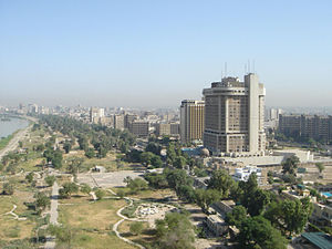 Baghdad skyline with Shantar tower