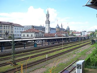 Konstanz station - Looking over the tracks to the north