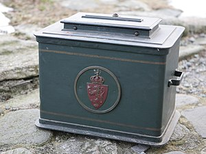 Norwegian municipal elections - Old ballot box from Selje municipality, Sogn og Fjordane, Norway