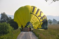 Hot air balloon take-off!