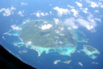 Baluan Island - Balaun Island from the air