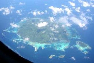Baluan Island - Balaun Island from the air