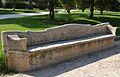 Banc de pedra als jardins de Vivers, València.JPG