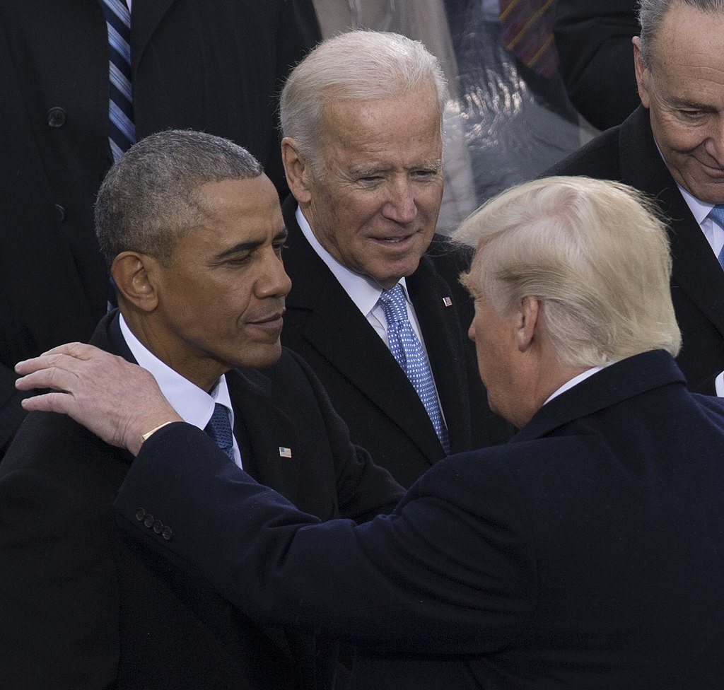Barack Obama, Donald Trump, Joe Biden at Inauguration 01-20-17 (cropped).jpg