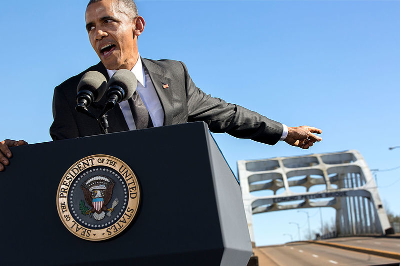File:Barack Obama delivers remarks during the event to commemorate the 50th Anniversary of Bloody Sunday and the Selma to Montgomery civil rights marches.jpg