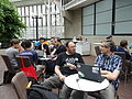 Barbican conservatory terrace at 5-15pm on Friday of Wikimania 2014 03.jpg