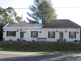 Barkers Creek, Victoria - The Old England Hotel, now a bed and breakfast inn, in Barkers Creek, 2008