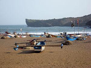 Gunung Kidul Regency - Baron Beach, one of the many beaches in Gunungkidul Regency