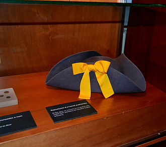 Yellow ribbon - Austrian hat with yellow ribbon