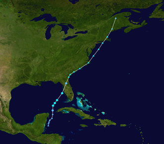 Tropical Storm Barry (2007) - Image: Barry 2007 track