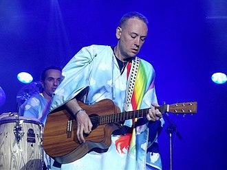 Basement Jaxx - Ratcliffe performing at the 2013 Orange Warsaw Festival.