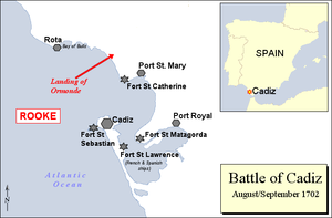 Battle of Cádiz (1702) - Battle of Cádiz 1702.