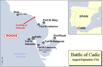 Battle of Cádiz (1702) - Battle of Cádiz 1702.