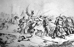 Battle of Krasnobród (1863) - Battle of Krasnobród, 1863, during the Uprising