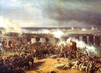 """Battle of Ostrołęka (1831) - """"Battle of Ostrołęka of 1831"""", an 1838 painting by Karol Malankiewicz"""