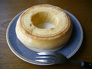 Spit cake -  Baumkuchen is layered.