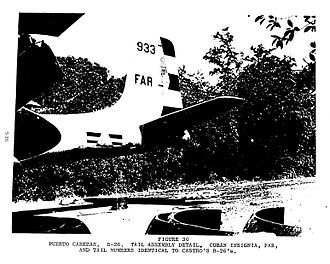 "Bay of Pigs Invasion - Douglas A-26 Invader ""B-26"" bomber aircraft disguised as a Cuban model"
