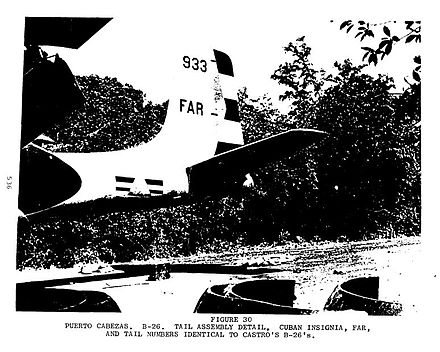 "Douglas A-26 Invader ""B-26"" bomber aircraft disguised as a Cuban model BayofPigsPrep2.jpg"