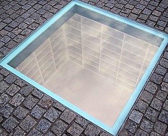 Bebelplatz - A memorial to the Nazi book burning by Micha Ullman set into the Bebelplatz.