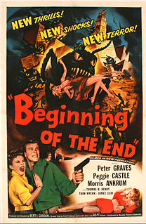 <i>Beginning of the End</i> (film) 1957 US science fiction film directed by Bert I. Gordon