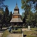 Begraafplaats bij Imatra met heel oud houten torentje met typisch oud fins toren, Bestanddeelnr 254-7437.jpg