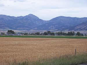 Belgrade, Montana - The Bridger Mountains just outside Belgrade