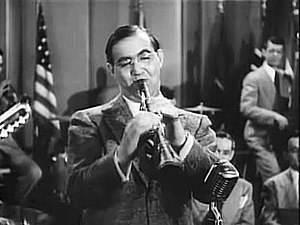 Swing music - Benny Goodman, one of the first swing bandleaders to achieve widespread fame.