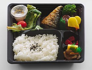 <i>Bento</i> Japanese single-portion takeout or home-packed meal