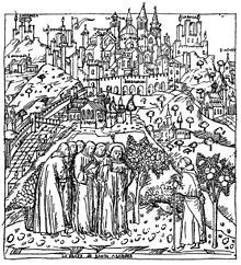 la stampa è stata probabilmente realizzata basandosi unicamente su fonti vaghe, in quanto le mura della città alta hanno dei merli guelfi, quando invece le mura di Bergamo ne sono completamente sprovviste, fatta eccezione di alcune torri, come quelle del castello di San Vigilio, la torre del Galgario e altri torri quattrocentesche.