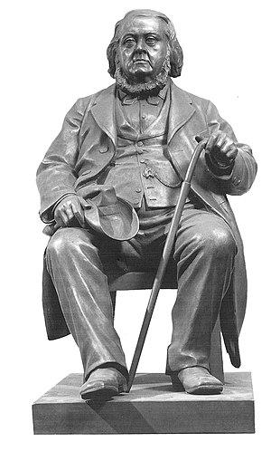Peter Christen Asbjørnsen - Sculpture of Peter Christen Asbjørnsen: Brynjulf Bergslien, 1885