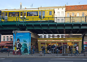 Currywurst - Konnopke's Imbiss (Fast Food Stand) in Berlin. It was the first Imbiss to sell currywurst in East-Berlin in 1960.