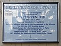 Berliner Gedenktafel Joachim-Friedrich-Str 48 (Halsee) Meret Oppenheim.jpg