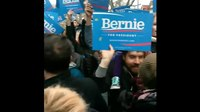 File:Bernie Sanders waves farewell to an uproarious crowd where he grew up in Brooklyn New York.webm