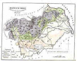 Berwickshire - A map of Berwickshire (1794)