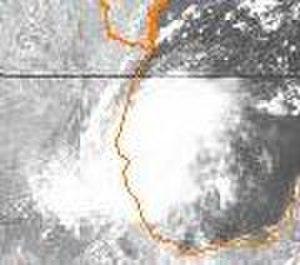 1978 Atlantic hurricane season - Image: Bess 1978080718GOES2VS