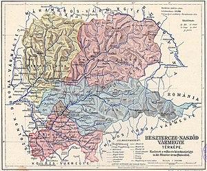 Beszterce-Naszód County - Image: Beszterce Naszód county administrative map