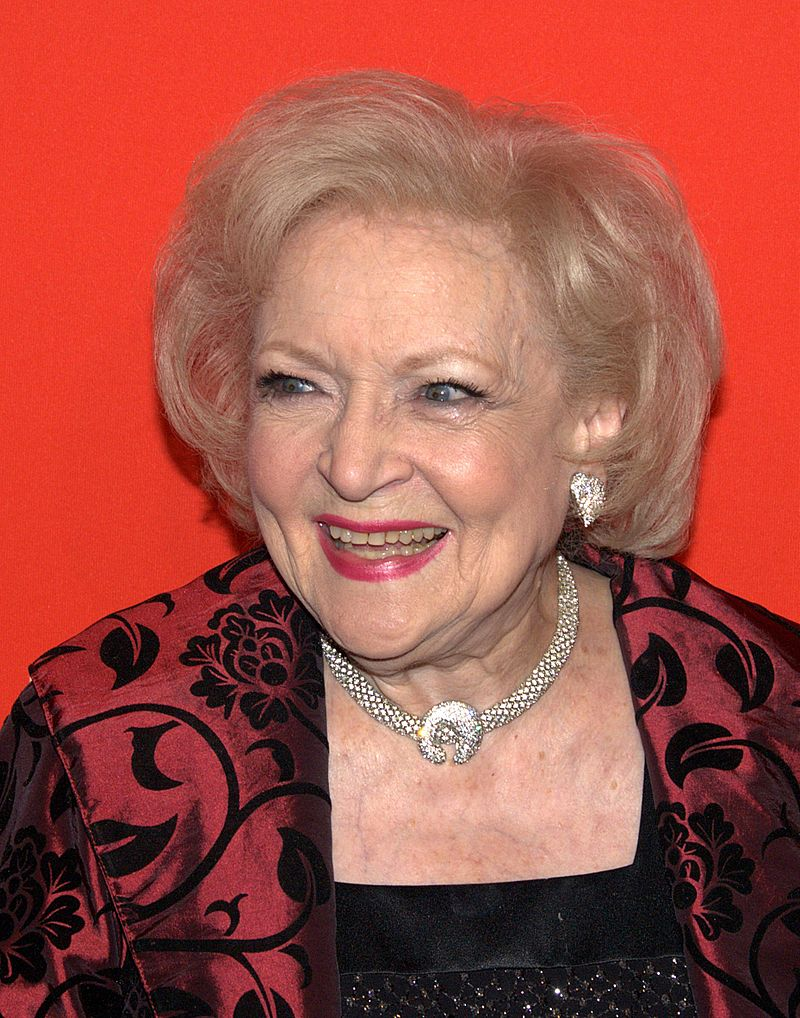 actress Betty White smiling at the Time 100 gala in 2010