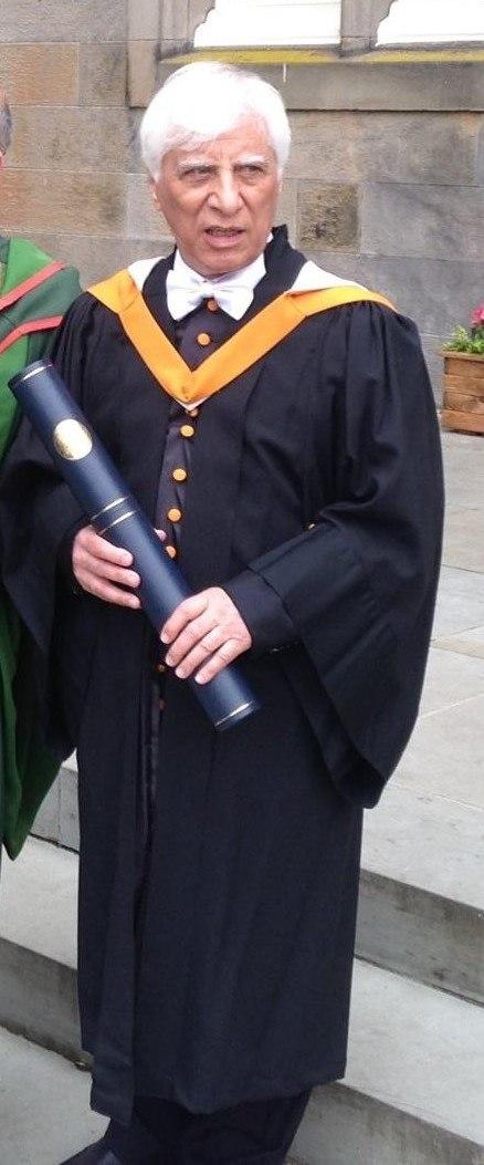 Beyzai in a St Andrews cassock having received a D.Litt. honoris causa 2017