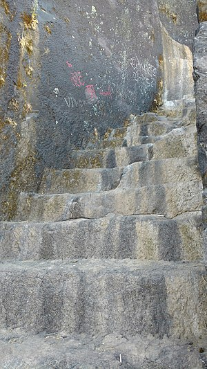 Bhaskargad - Rock cut steps