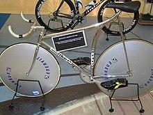 La speciale bicicletta usata da Moser per il record dell'ora del 1984