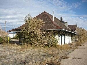 Biggar, Saskatchewan - Biggar railway station (1909-1910) National Historic Site