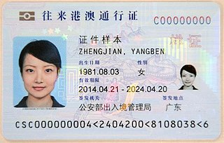 Exit-Entry Permit for Travelling to and from Hong Kong and Macau